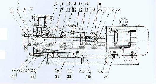 玻璃钢离心泵结构图